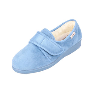 003 Sandpiper Sally Blue Extra Wide Slipper size 4