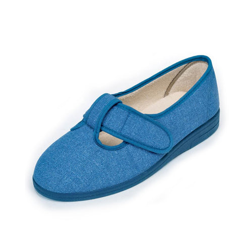 291 Sandpiper Tracy Denim Extra Wide Slippers size 4