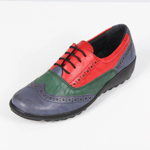 011 Footsoft Tina Navy Multi Casual Shoe size 4