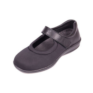 335 Sandpiper Walmer Black Ladies Extra Wide Casual Shoe size 4
