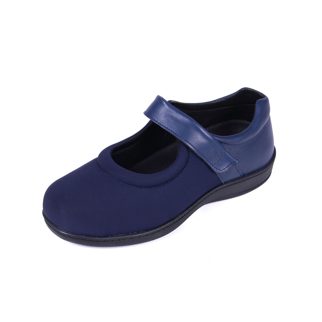 080 Sandpiper Walmer Navy Extra Wide Shoes size 4