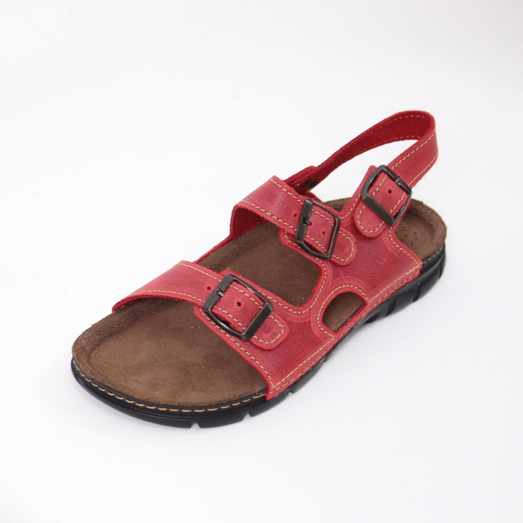 388 Footsoft Red Ladies Sandal size 4