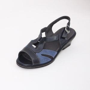 404 Suave Navy/Royal Ladies Sandal size 4