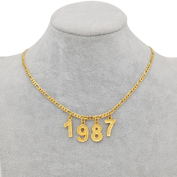 Number Choker Necklace
