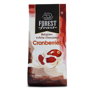 Belgian White Chocolate Cranberries 90g northern ireland - Fruit2 Go