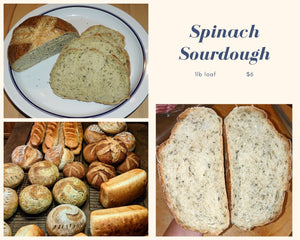 Spinach Sourdough Bread