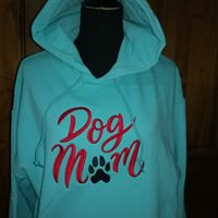 Embroidered Sweatshirt-Dog Mom Hoodie