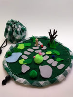 Load image into Gallery viewer, Take-along felt Garden Playset