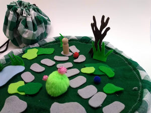 Take-along felt Garden Playset