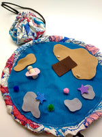 Load image into Gallery viewer, Take-along felt Beach Playset