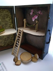 Large Suitcase Fairy House