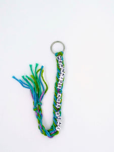 Mermaids Are Real Fishtail Braided Keychain