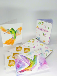 Complete Stationery Set-Feathered Jewels Print