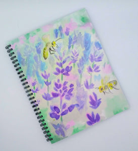 Denik Wirebound Notebook-Bees and Lavender
