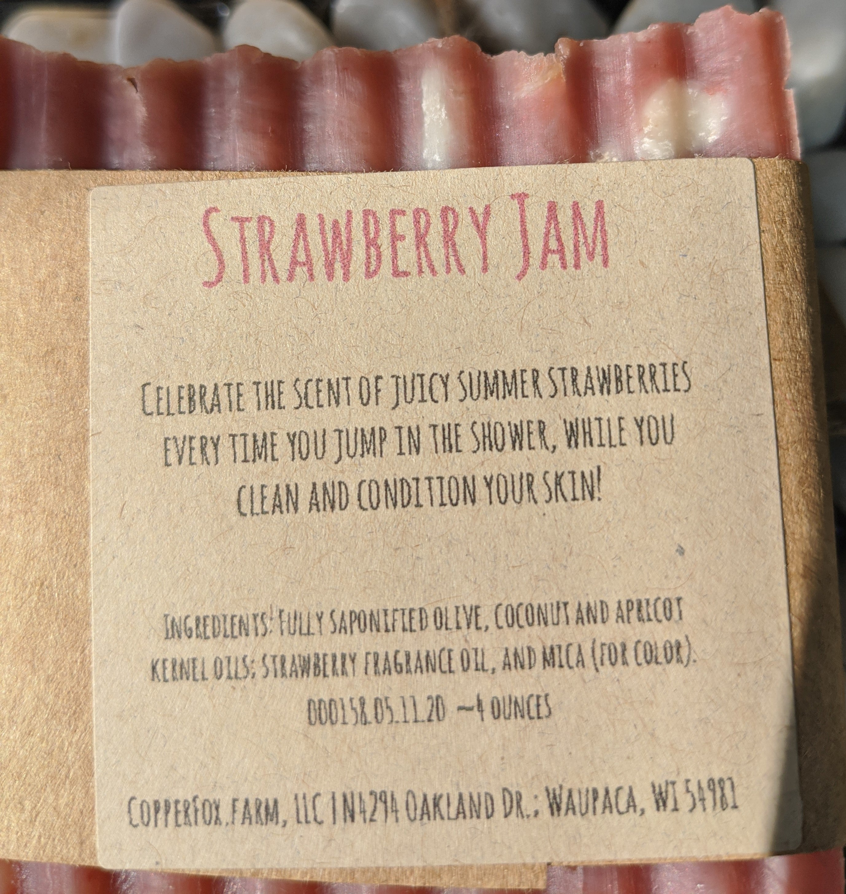 Handcrafted Soap-Strawberry Jam