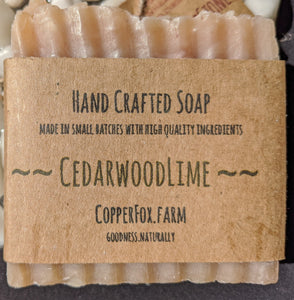 Handcrafted Soap-Cedarwood Lime