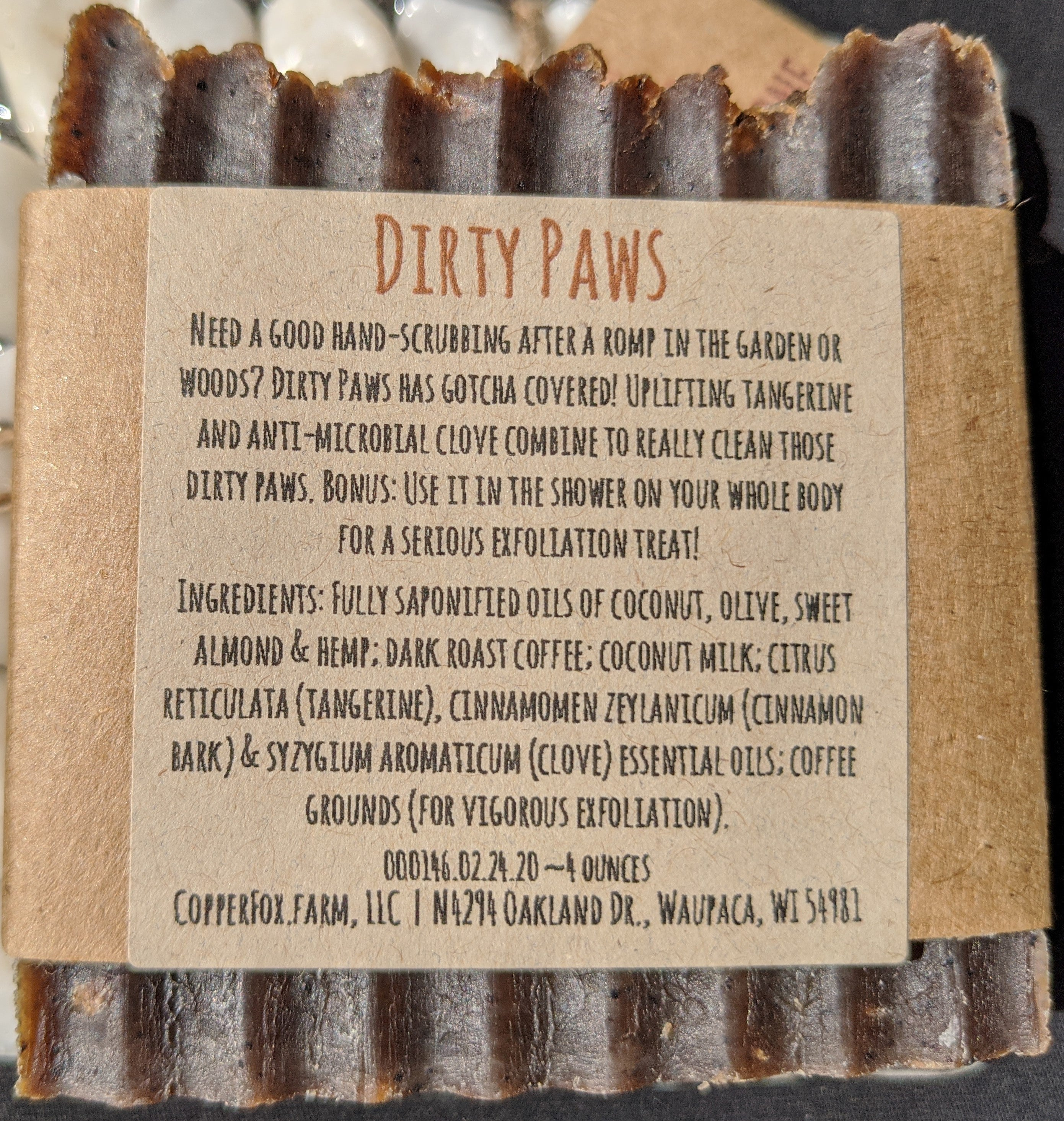 Handcrafted Soap-Dirty Paws
