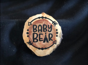 Baby Bear Round Plaque