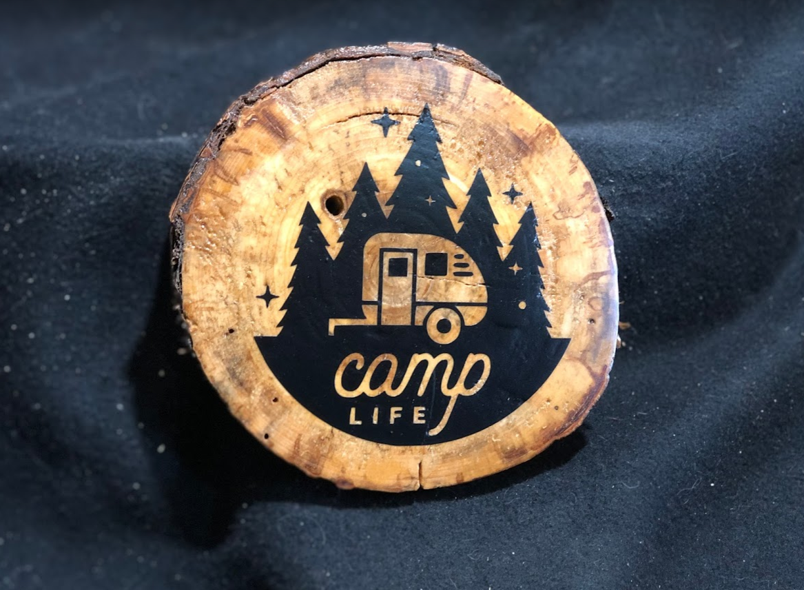 Camp Life Round Plaque