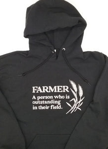 Embroidered Sweatshirt-Farmer Hoodie