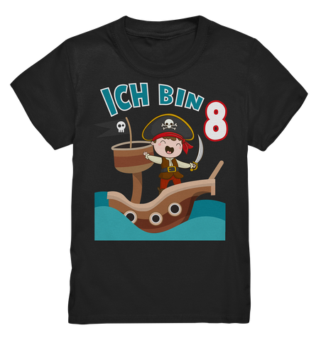 Piraten Kinder T-Shirt 8. Geburtstag - Kids Premium Shirt