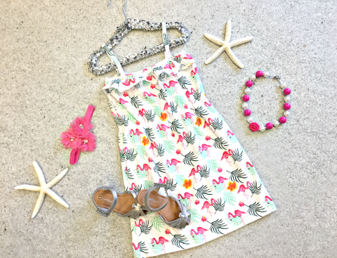 Fun Flamingo Sundress