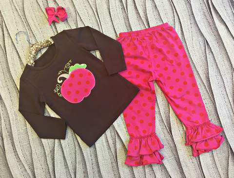 Pink Pumpkin Pant Set