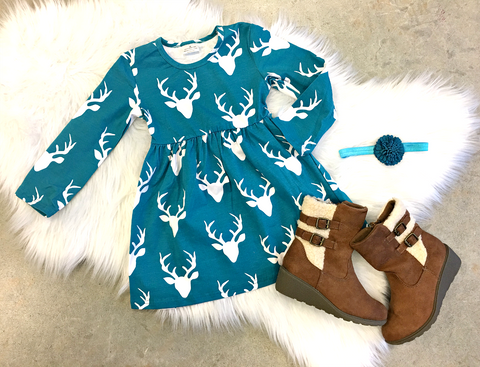 Teal Deer Dress