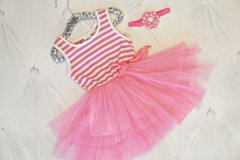 Simple Stripe Tutu Dress