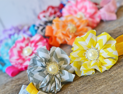 10 Glitz Chevron Headbands