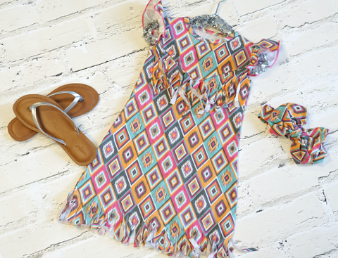 Summer Aztec Fringe Dress