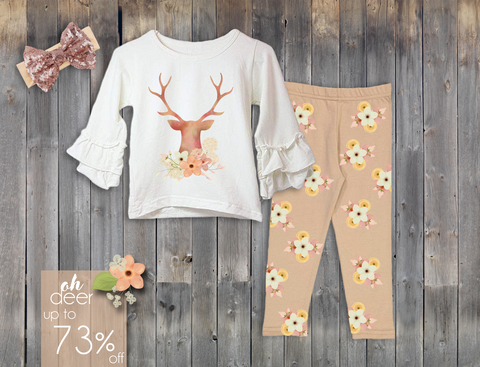 Oh Deer Autumn Pant Set