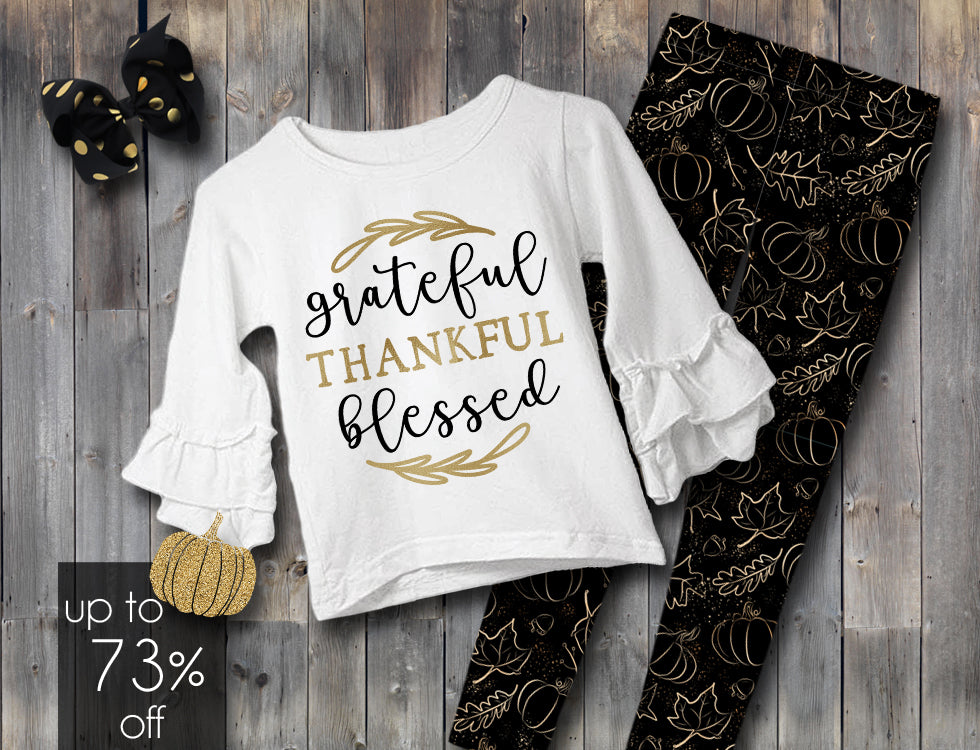 Grateful, Thankful, Blessed Pant Set