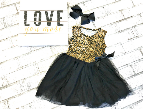 Cheeky Cheetah Tutu Dress Preorder