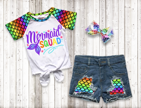 Mermaid Squad Short Set
