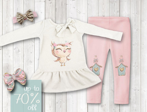 Olivia the Owl Pant Set