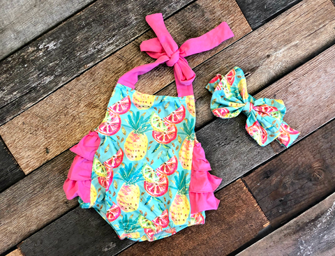 Pineapple Party Romper
