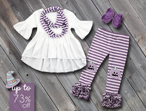 Purple Pumpkin Pant Set