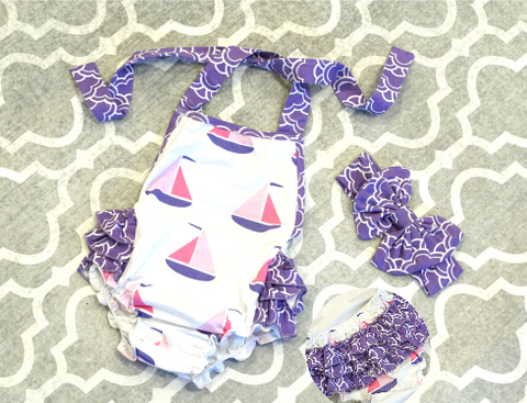 Sailboat Sweetie Romper