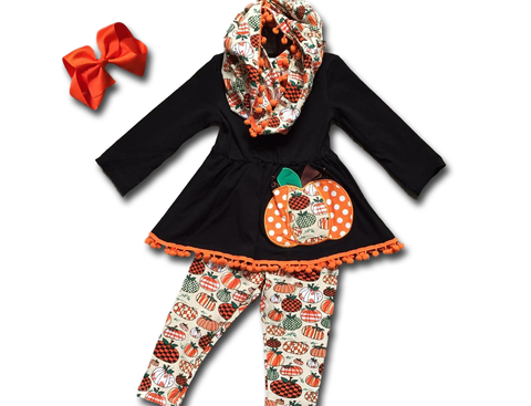 Pumpkin Patchwork Pant Set