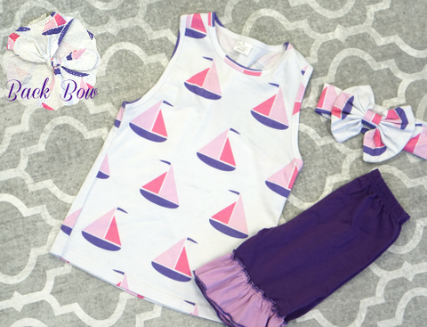 Sailboat Sweetie Short Set