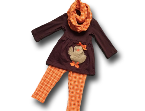 Plaid Turkey Pant Set