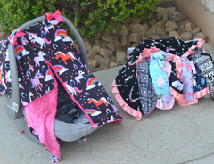 Minky Car Seat Covers & Blankets