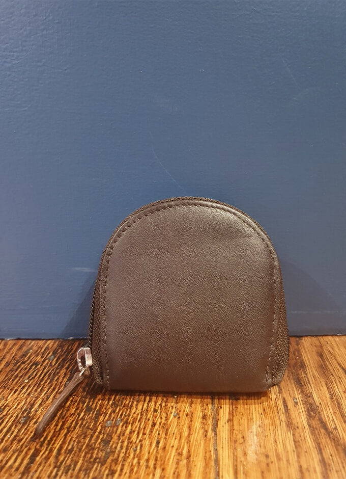 Leather Coin Purse | Chocolate