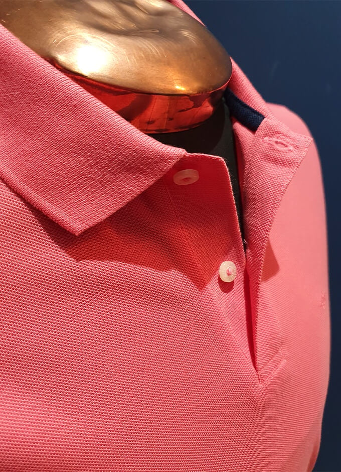 Cotton Polo |  Salmon