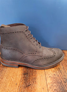 Bedale | Brogue Boot | Waxed Suede