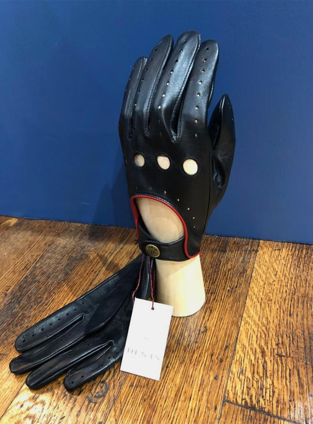 Classic Leather Driving Gloves Black