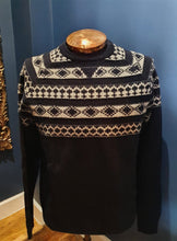 Load image into Gallery viewer, Navy Fairisle Jumper