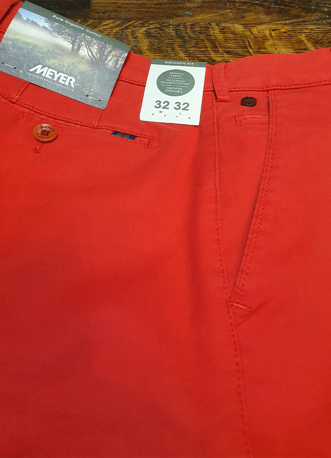 Organic Chino Shorts | Palma | Red