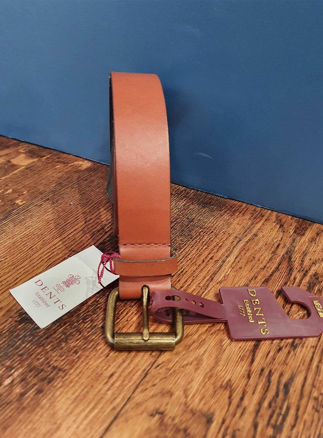 Tan Leather Waxed Belt